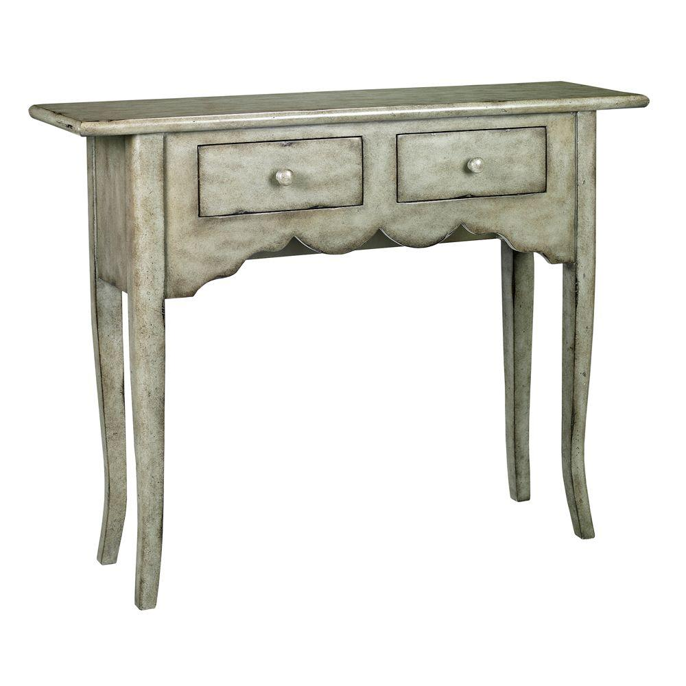 Home Decorators Collection Emily Antique Grey Console Table