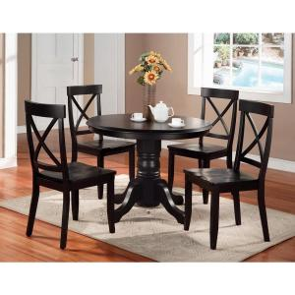 5piece black dining set