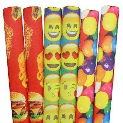 Emojis, Gumballs, Foods Pool Noodles (6-Pack)