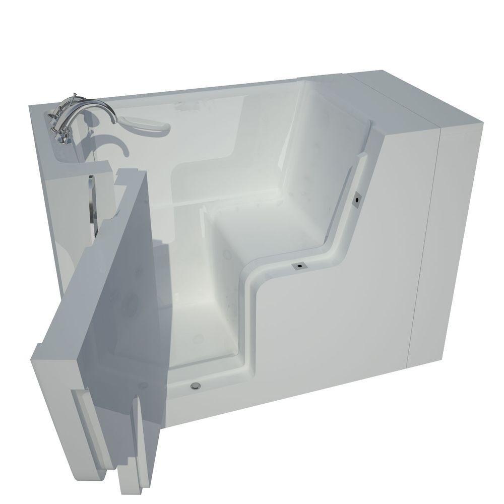 Universal Tubs 4.5 ft. Left Drain Walk-In Bathtub in White