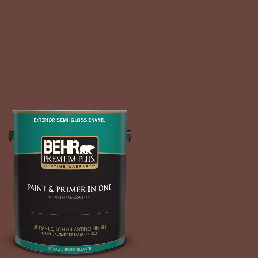 1-gal. #190F-7 Mayan Red Semi-Gloss Enamel Exterior Paint