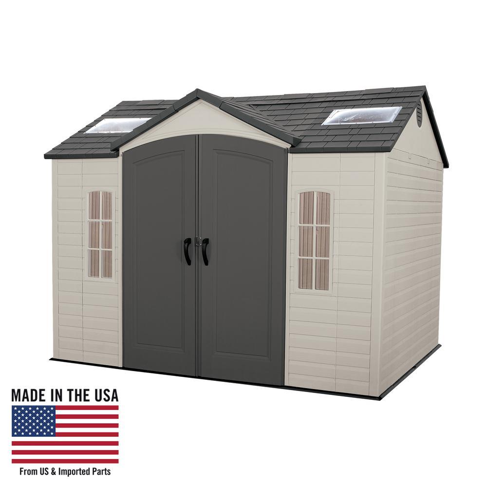 Lifetime 10x8 plastic garden shed with floor (60005).