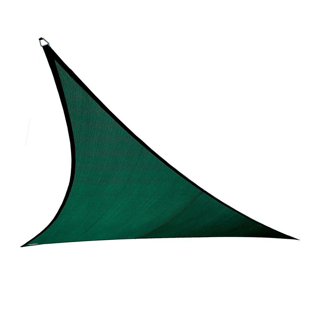 shade sails home depot Coolaroo Coolhaven 15 ft. x 12 ft. x 9 ft. Green Right Triangle  shade sails home depot