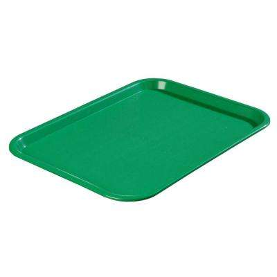 10.75 in. x 13.87 in. Polypropylene Cafeteria/Food Court Serving Tray in Green (Case of 24)