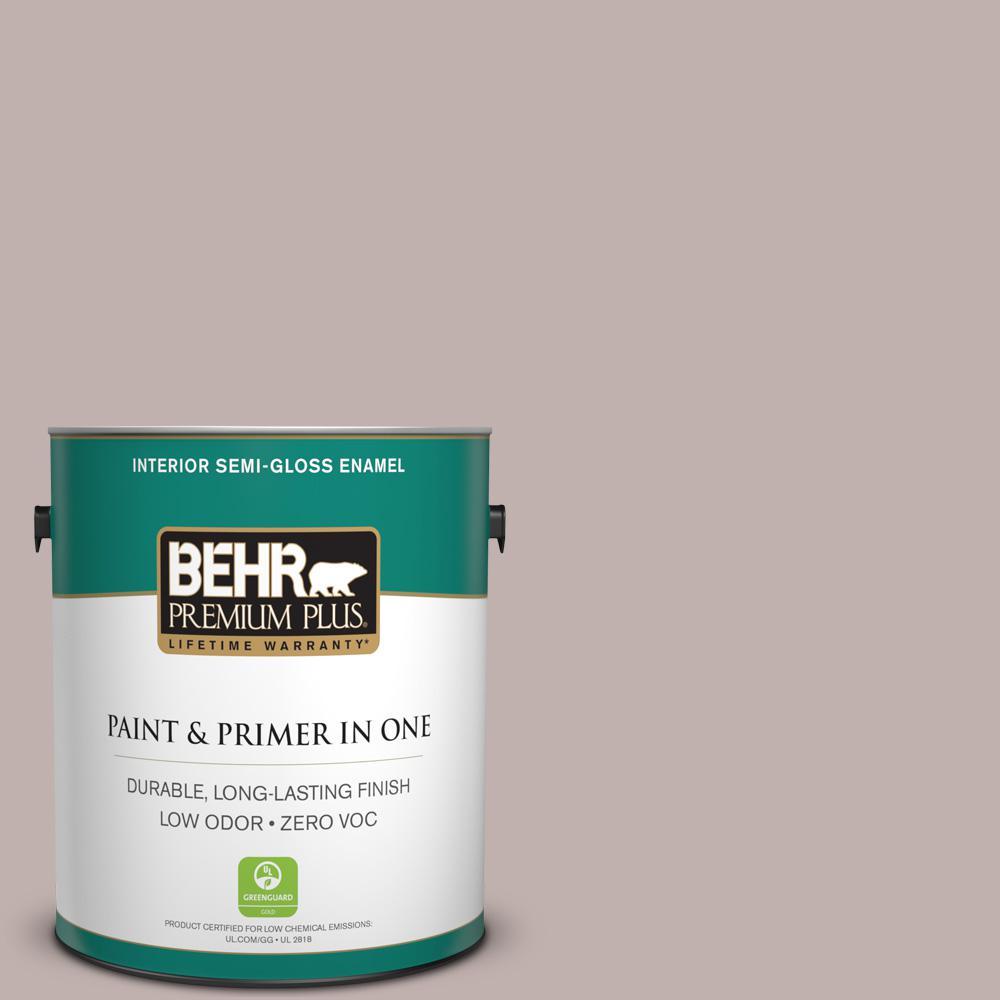BEHR Premium Plus 1-gal. #740A-3 Oak Ridge Zero VOC Semi-Gloss Enamel Interior Paint