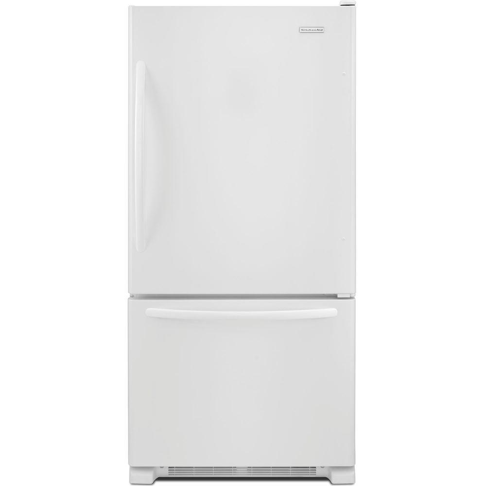 KitchenAid Architect Series II 30 in. W 18.7 cu. ft. Bottom Freezer Refrigerator in White