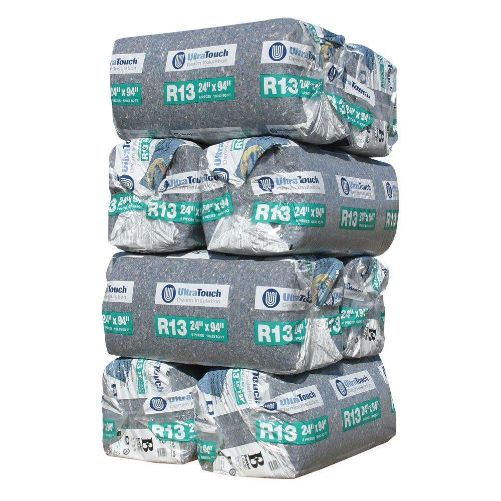 UltraTouch R-13 Denim Insulation Batts 24.25 in. x 94 in. (8-Bags)