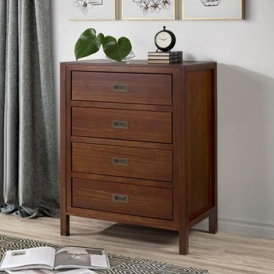"40"" Classic Solid Wood 4-Drawer Chest - Walnut"