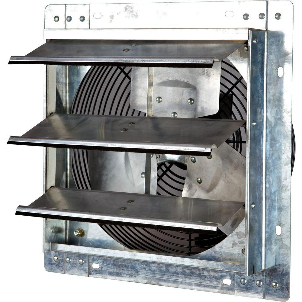 800 CFM Power 12 in. Variable Speed Shutter Exhaust Fan