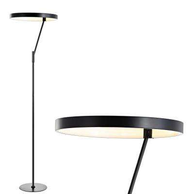 Owen 66.7 in. Black Integrated LED Metal Floor Lamp