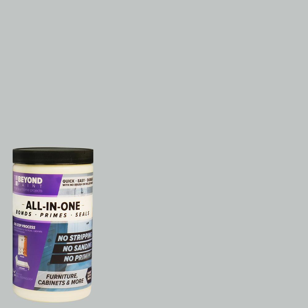 Beyond Paint 1 qt. Soft Gray Furniture, Cabinets and More Multi-Surface All-in-One Refinishing Paint