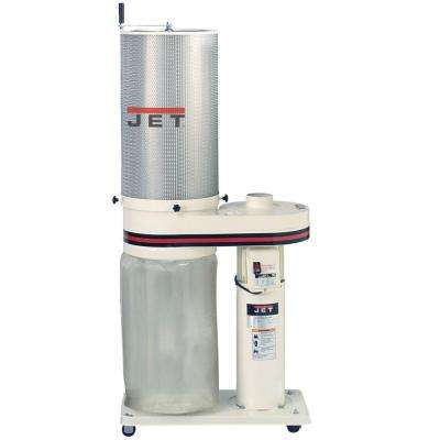 1 HP 650 CFM 4 in. Dust Collector with 2-Micron Canister Kit, 115/230-Volt, DC-650CK