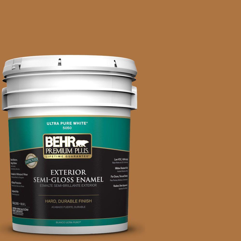 5-gal. #M250-7 Blonde Wood Semi-Gloss Enamel Exterior Paint