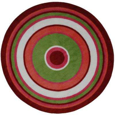 Fun Time Shape Concentric 3 4 ft. Round Area Rug