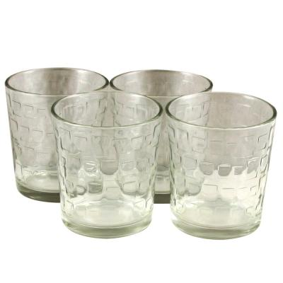 Great Foundations 13 oz. Embossed Glass Set (4-Pack)