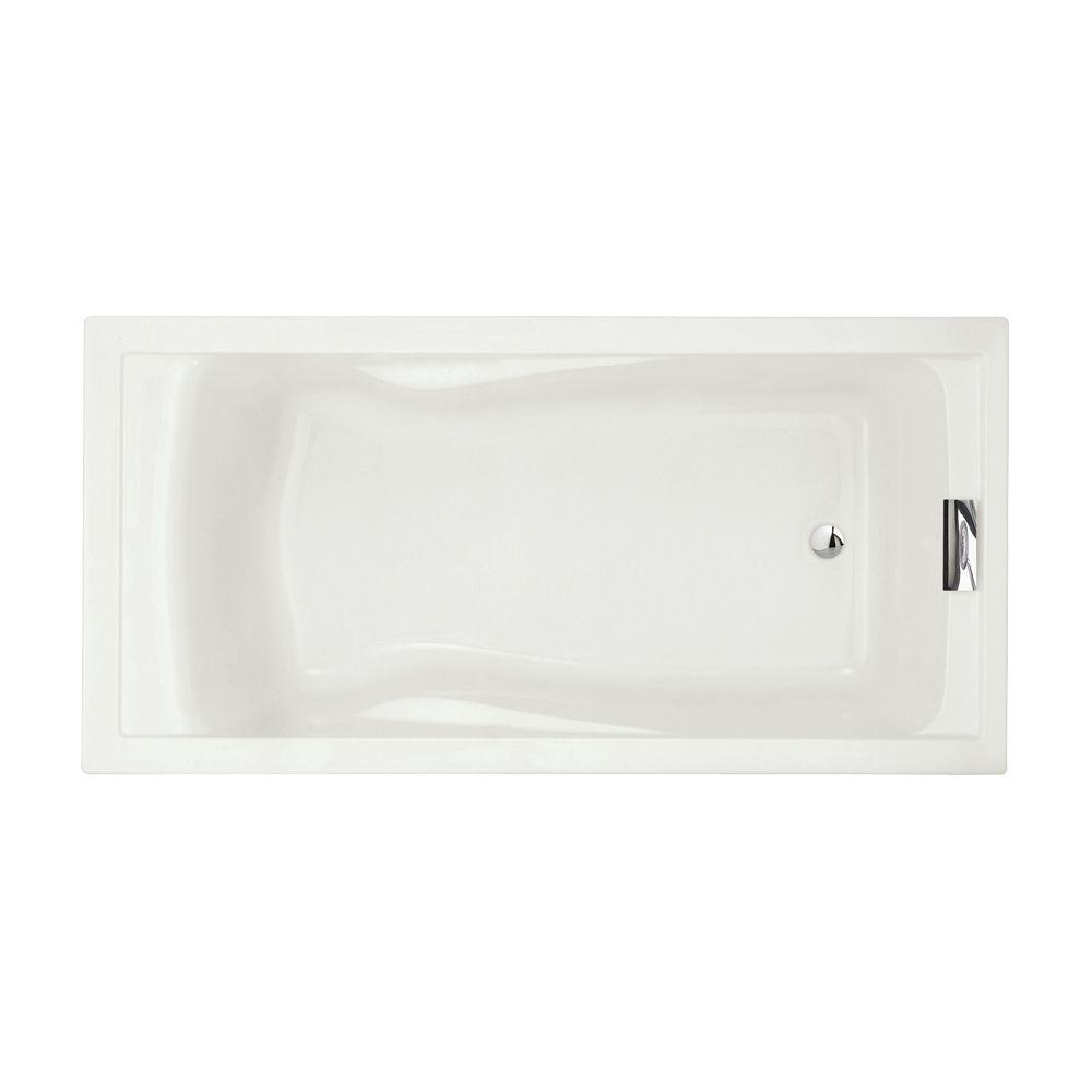 American Standard Evolution 72 In X 36 Acrylic Reversible Drain Bathtub White