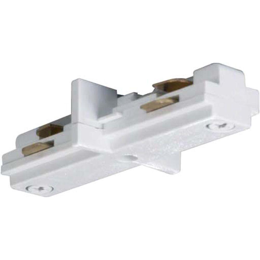 Glomar White Track Lighting Mini Straight Connector