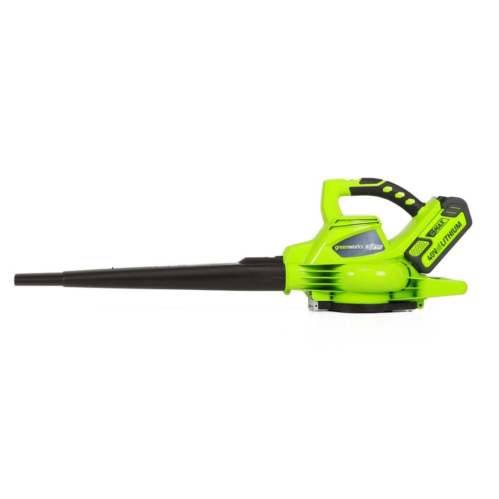 G-MAX DigiPro 185 MPH 340 CFM 40-Volt Brushless Lithium-Ion Cordless Leaf