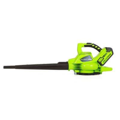 G-MAX DigiPro 185 MPH 340 CFM 40-Volt Brushless Lithium-Ion Cordless Leaf Blower - 4.0 Ah Battery and Charger Included