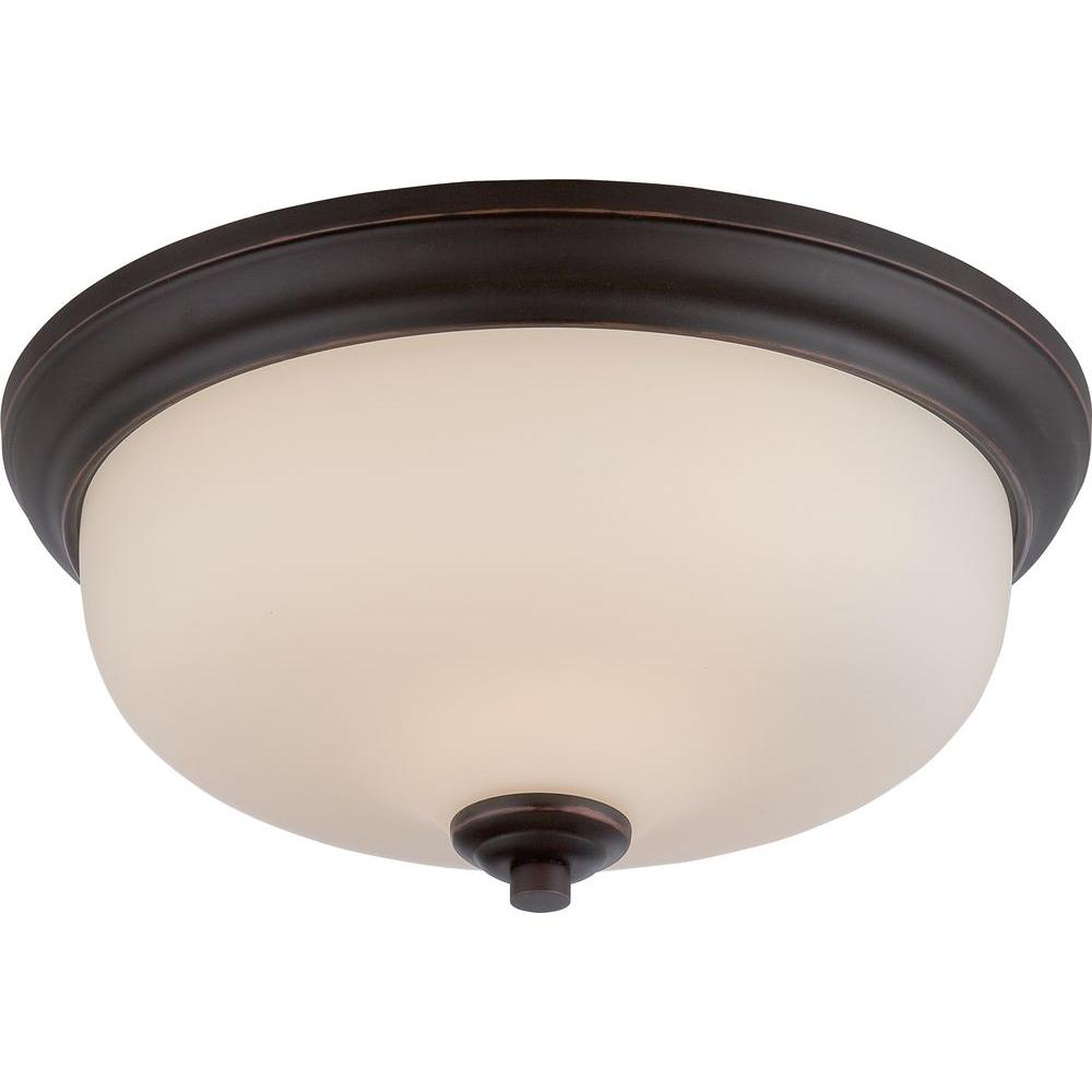 Lillian 2-Light Mahogany Bronze Flushmount