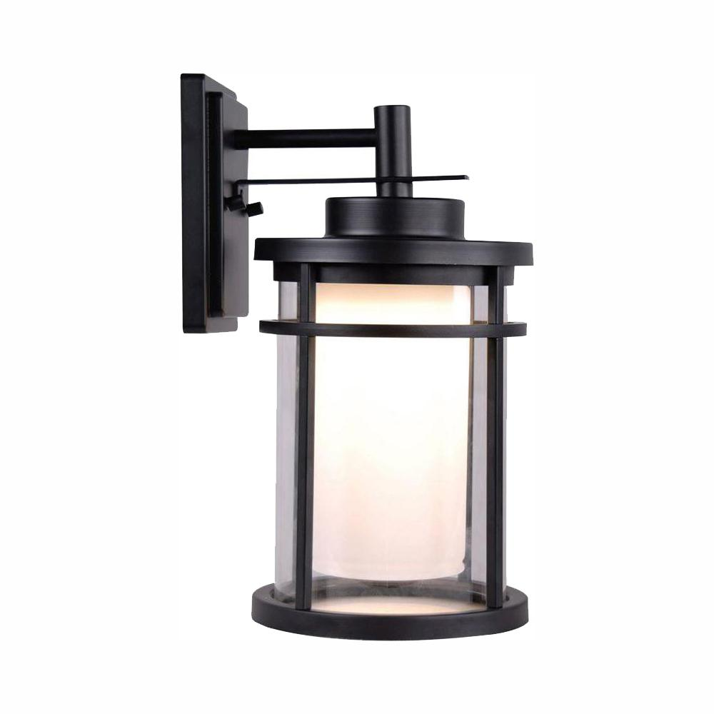 Home Decorators Collection Black Outdoor LED Wall Lantern Sconce