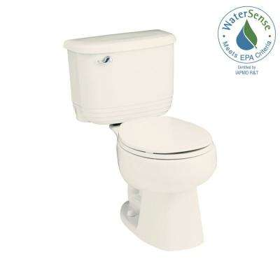 Riverton 2-piece 1.28 GPF Single Flush Round Toilet in Biscuit
