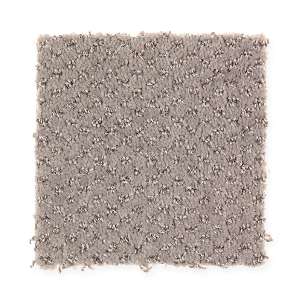 Energetic - Color Taupe Essence Pattern 12 ft. Carpet