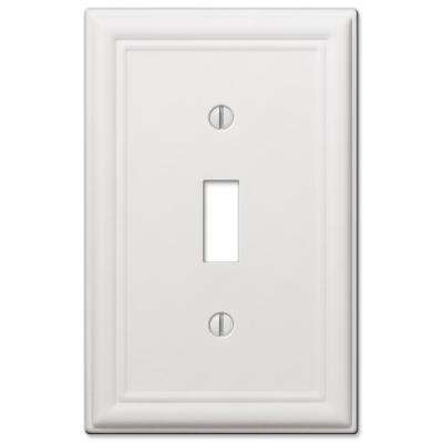Ascher 1 Gang Toggle Steel Wall Plate - White