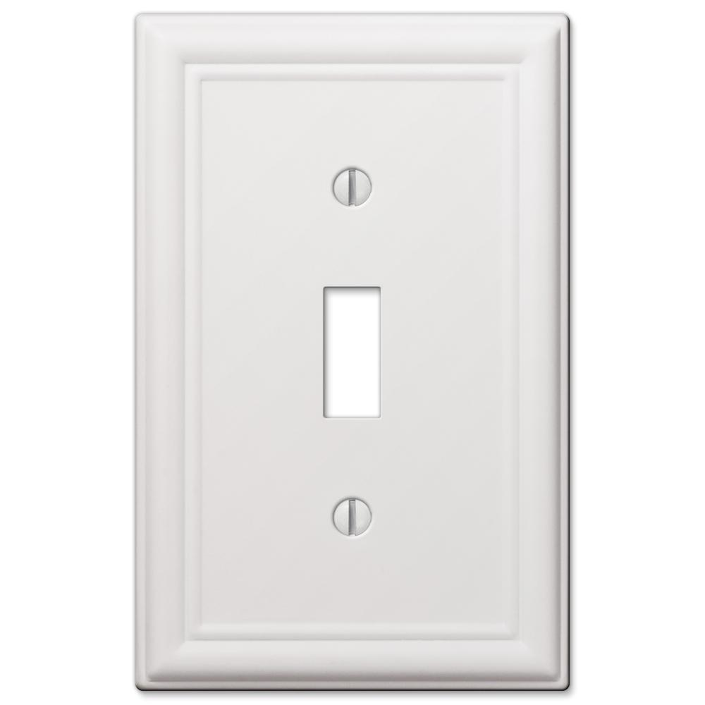hampton bay Ascher Steel 1-Toggle Wall Plate, White