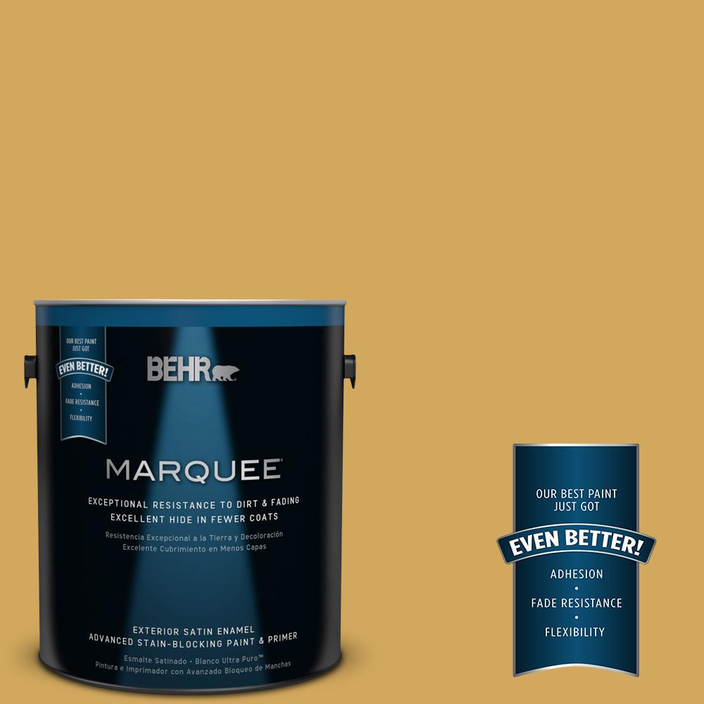 BEHR MARQUEE 1-gal. #350D-5 French Pale Gold Satin Enamel Exterior Paint