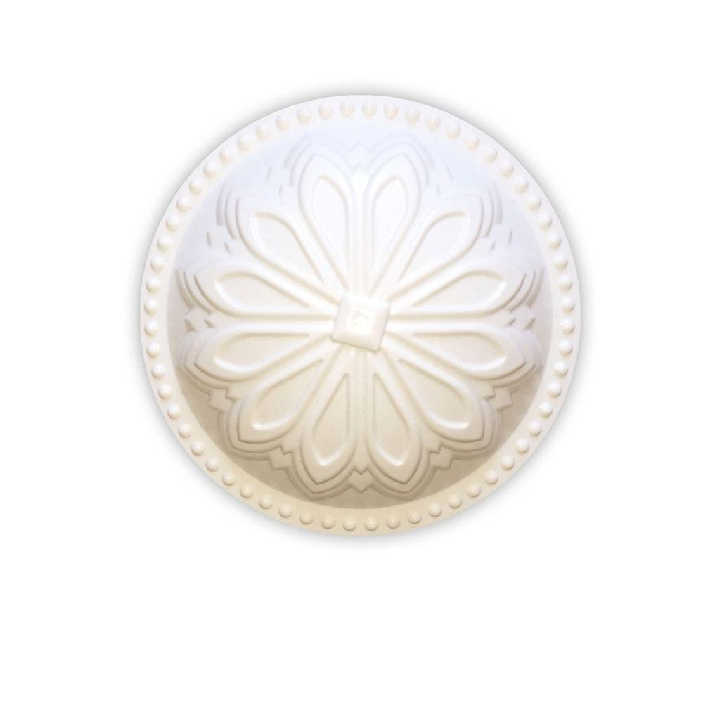 Creative Cleanout Covers Hermosa Dome Paint Grade White 5.25 in. x 5.25 in. Cleanout Cover