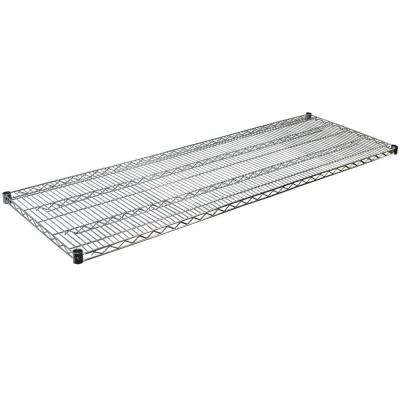 Steel Wire Shelf in Chrome - 1.5 in. H x 72 in.W x 36 in.D
