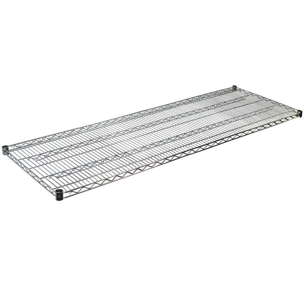Steel Wire Shelf in Chrome - 1.5 in. H x 72 in.W x 36 in.D