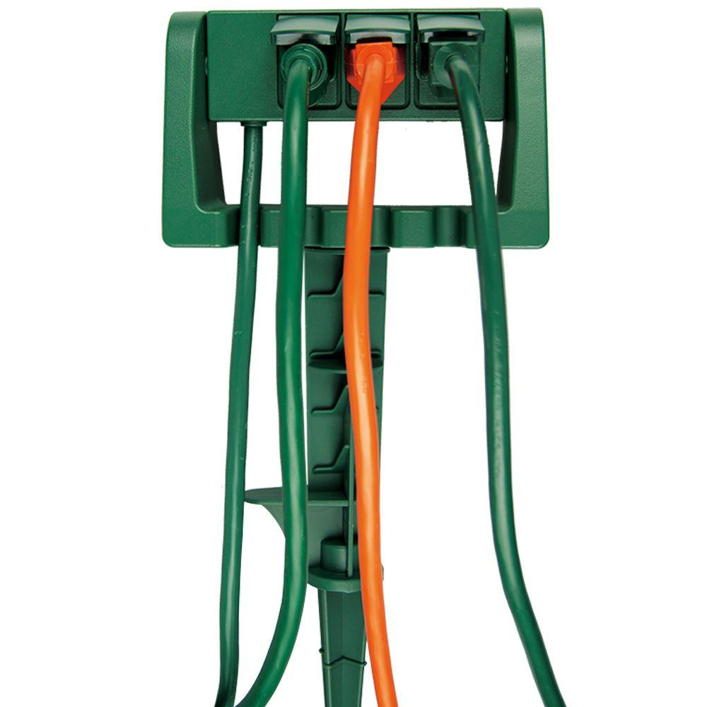 Home Accents Holiday 15 ft. 3-Outlet Outdoor Power Stake with ...