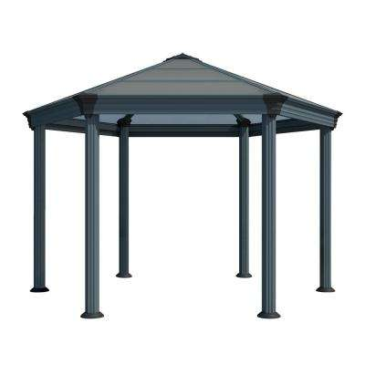 Roma Hex 13 ft. 7 in. x 11 ft. 9 in. Aluminum Frame Hard Top Garden Gazebo