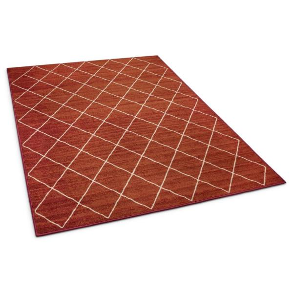Well Woven Kings Court Clover Red 5 Ft