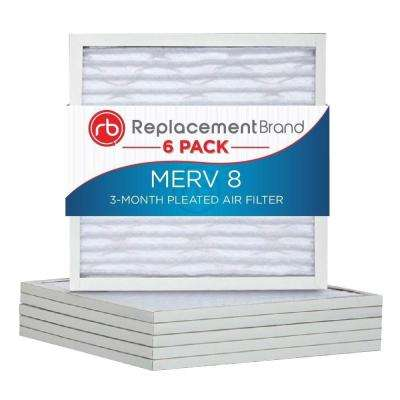 16 in. x 25 in. x 1 in. MERV 8 Air Purifier Replacement Filter (6-Pack)