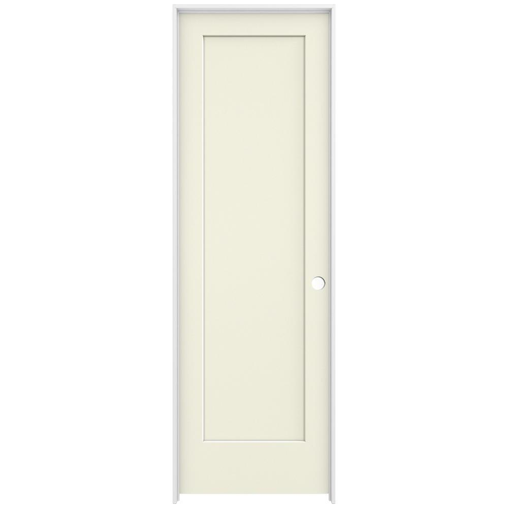 Beau JELD WEN 32 In. X 98 In. Madison Vanilla Painted Left Hand