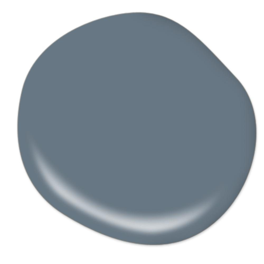 Behr Hypnotic paint color - a gorgeous medium denim blue color.