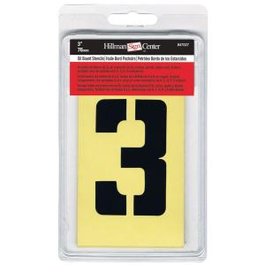 3 in. Cardboard Letters, Numbers and Symbols Stencil Set