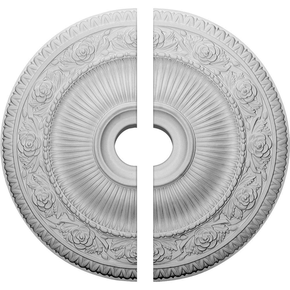 24-1/4 in. O.D. x 3-7/8 in. I.D. x 2 in. P Logan Ceiling Medallion (2-Piece)