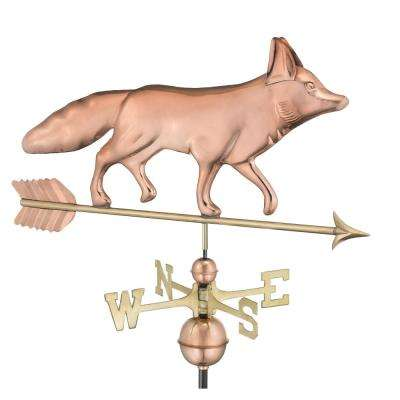 Fox Weathervane - Pure Copper