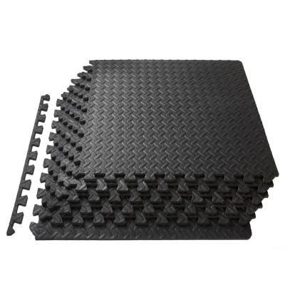 Puzzle Exercise Mat Black 24 in. x 24 in. x 0.5 in. EVA Foam Interlocking Anti-Fatigue Exercise Tile Mat (6-Pack)
