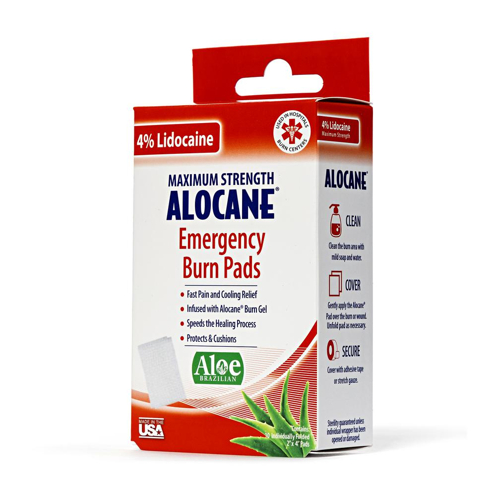 2 in. x 4 in. Emergency Burn Pads with 4% Lidocaine