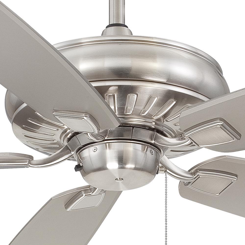 Brushed Nickel 60 Ceiling Fan Minka-Aire F532-BNW 60 Ceiling Fan Sunseeker
