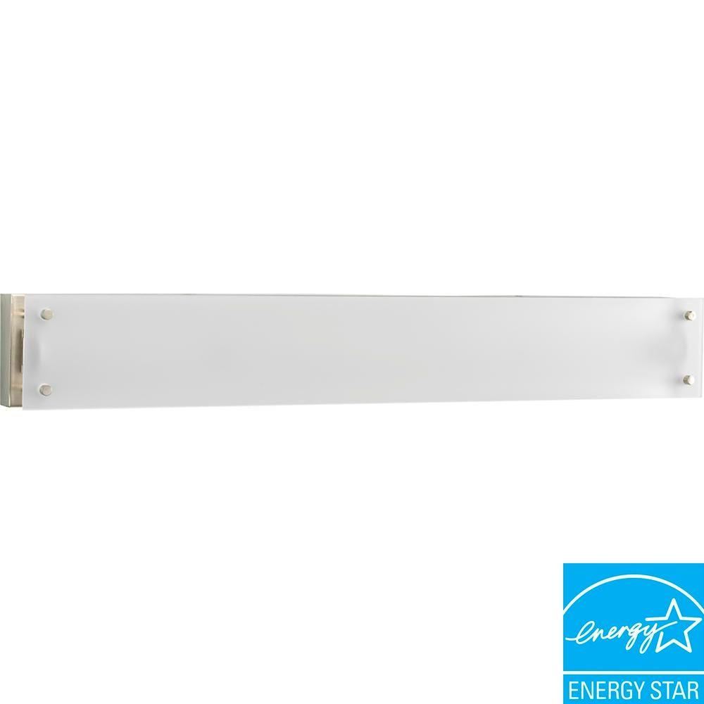 1-Light Brushed Nickel Fluorescent Vanity Fixture