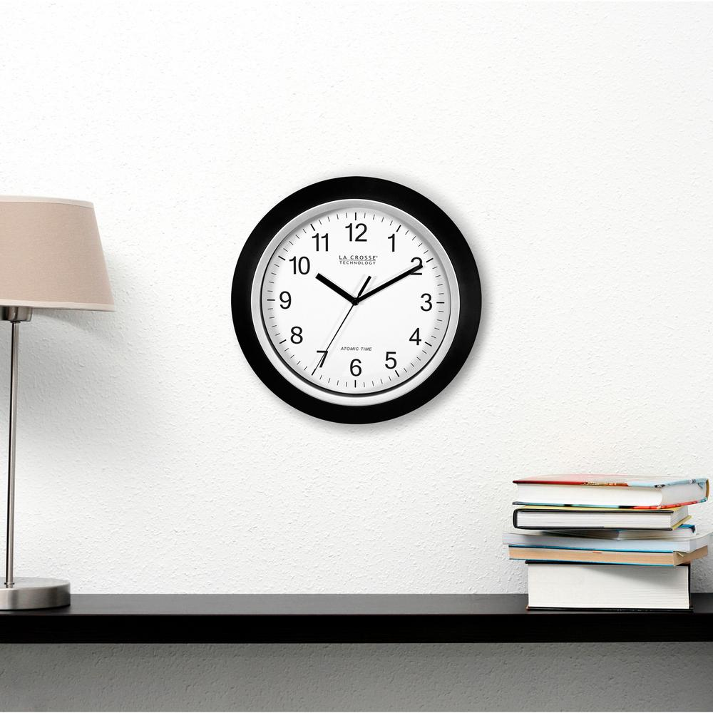 14 in. Round Analog Black Frame Wall Clock