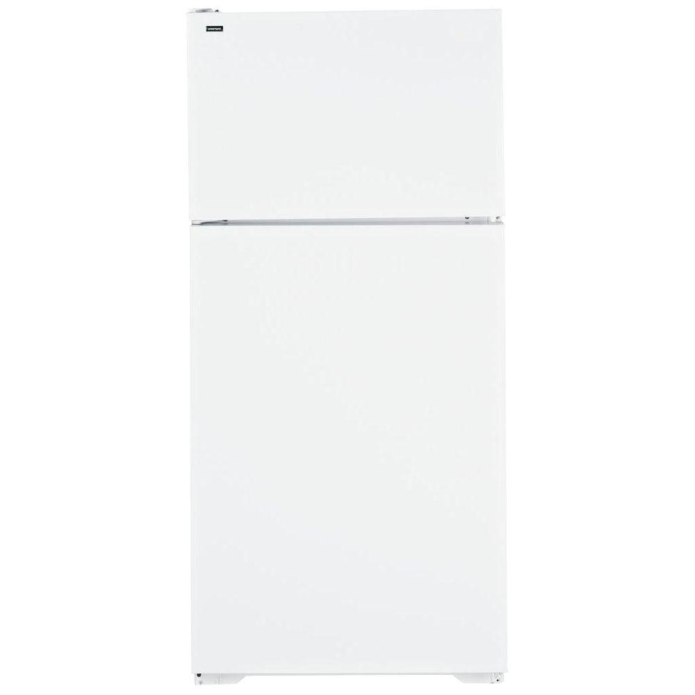 Hotpoint 28 in. W 15.6 cu. ft. Top Freezer Refrigerator in White
