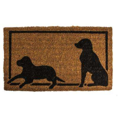 Dog Silhouettes 18 in. x 30 in. Coconut Fiber Door Mat