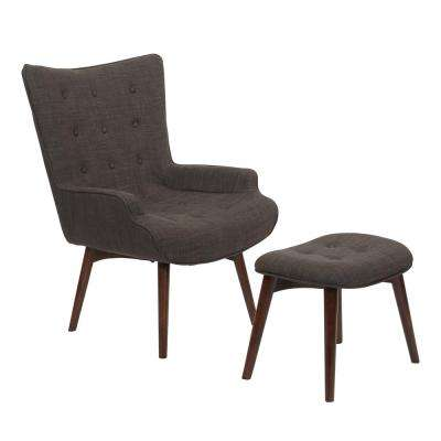 Dalton Chair Asphalt with Ottoman